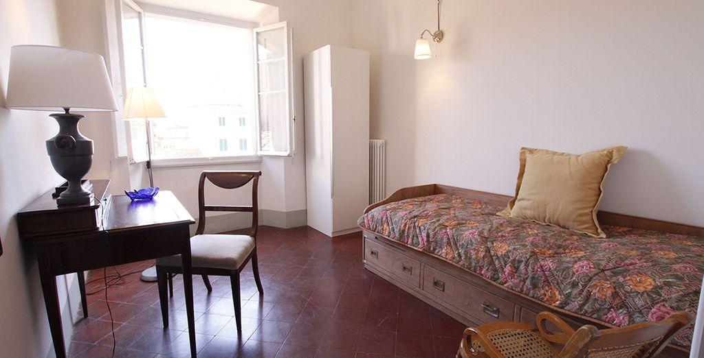 La deuxième chambre avec lits simples