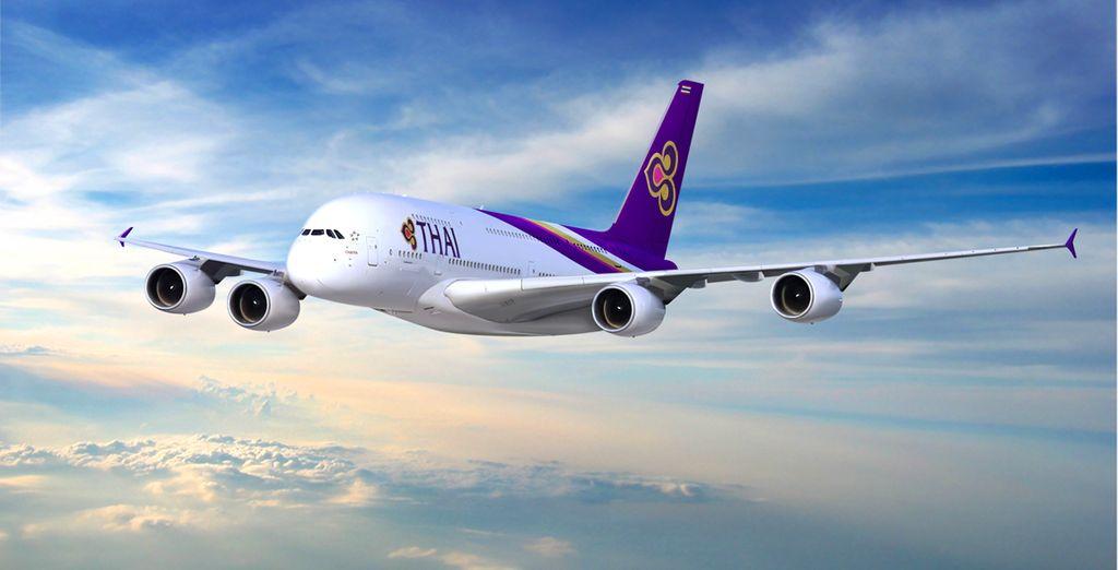 Pour rejoindre ces vacances de rêve, choisissez de voyager en A380 avec Thaï Airways