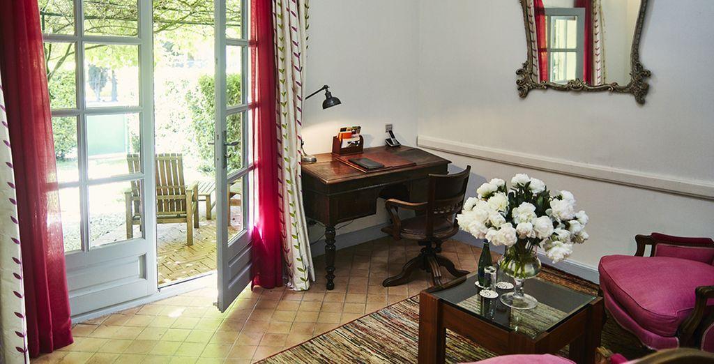 Chaque chambre, au nom d'un personnage qui a marqué l'histoire de cette maison, possède sa propre ambiance