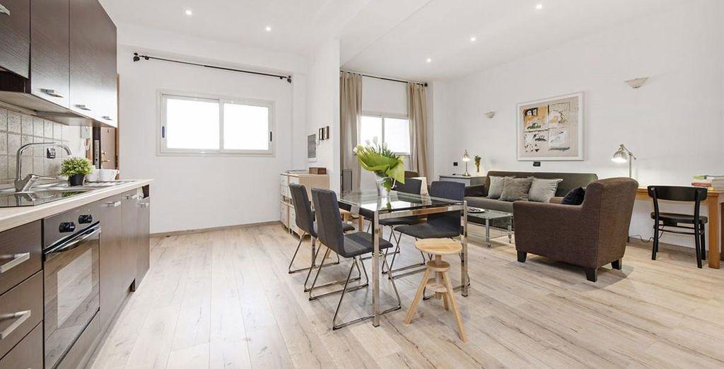 Appartement 6 : Le salon / salle-à-manger