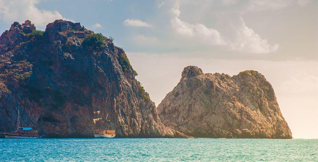 Sur une côte idyllique