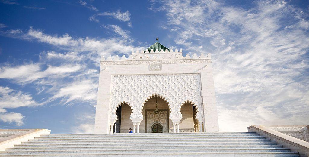 Avec le mausolée de Mohammed V...
