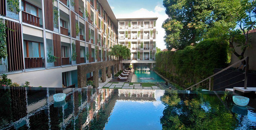 Vous résiderez à l'hôtel The Haven Bali Seminyak