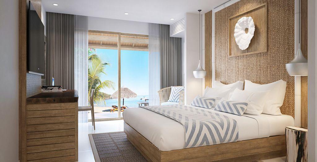 Chambre à lit double tout confort avec vue sur l'océan Indien, sélectionné par Voyage Privé