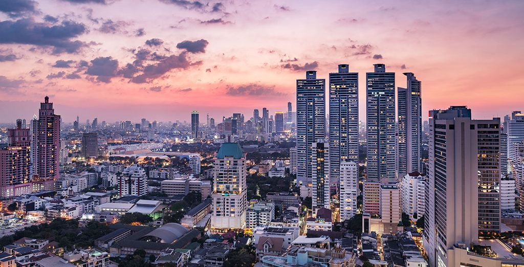 Photographie de la ville de Bangkok en Thailande