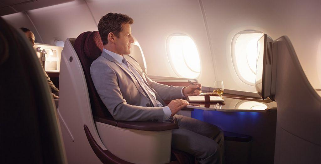 Dans votre cabine très confortable avec siège inclinable