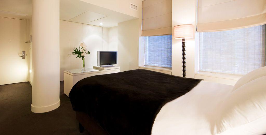 Une chambre confortable et lumineuse vous attendra