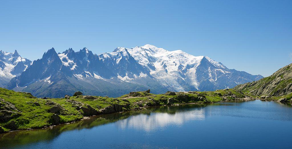 Située en plein milieu des Alpes !