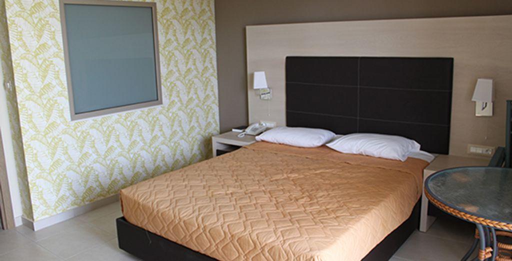 Des chambres Standard accueillantes...