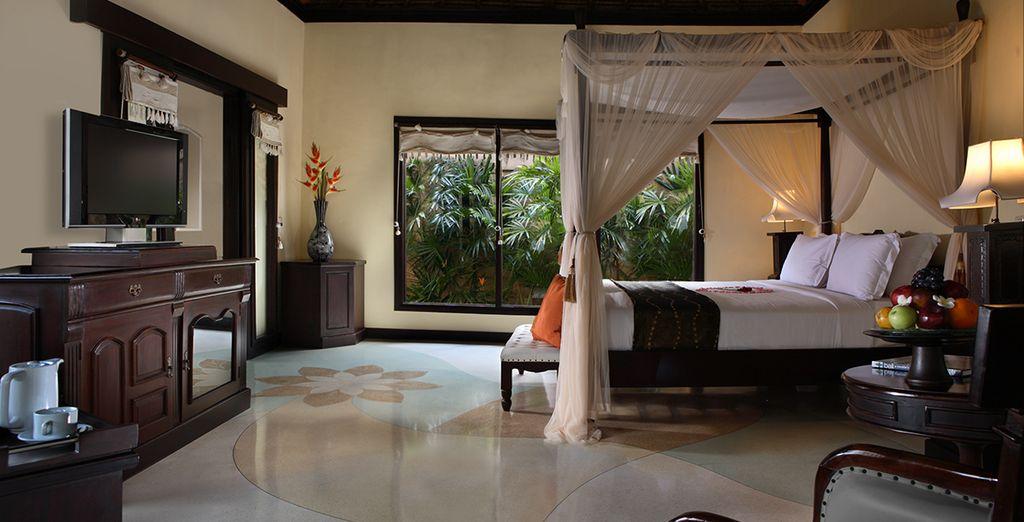 Vous poserez vos valises en villa One Bedroom Deluxe ou Lagon Pool