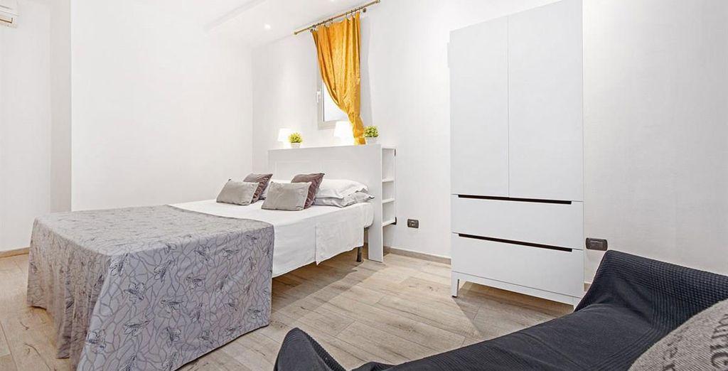 Appartement 6 : La seconde chambre avec lit double
