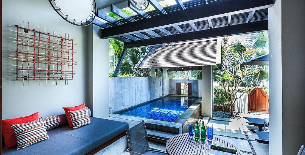Pour plus d'évasion, optez pour la Suite avec piscine privée