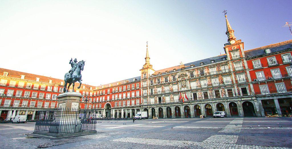 la Plaza Mayor...