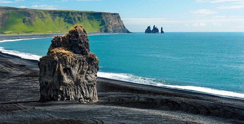 Les plages de sable noir de l'Islande