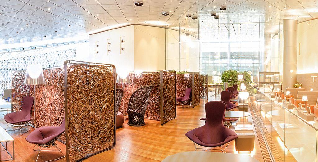 Via l'aéroport de Doha, vous profiterez des services incroyables du nouvel aéroport Hamad