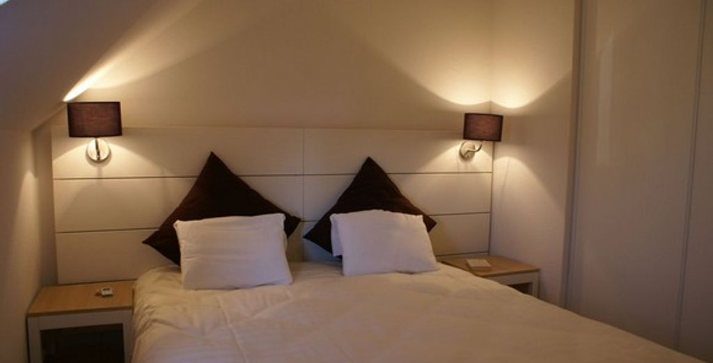 L'appartement : la chambre - Résidence Goelia Les Portes d'Honfleur Boulleville