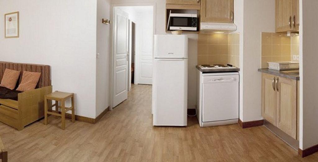 L'appartement : le coin cuisine