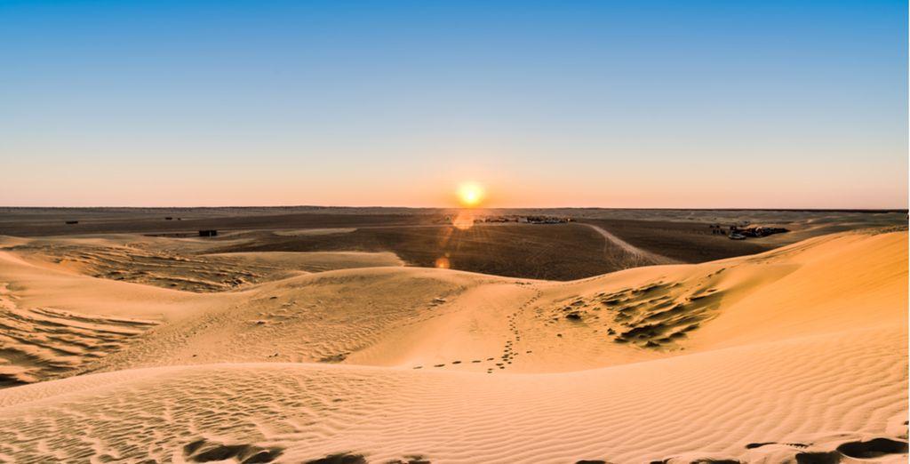 Photographie du désert de Tunisie