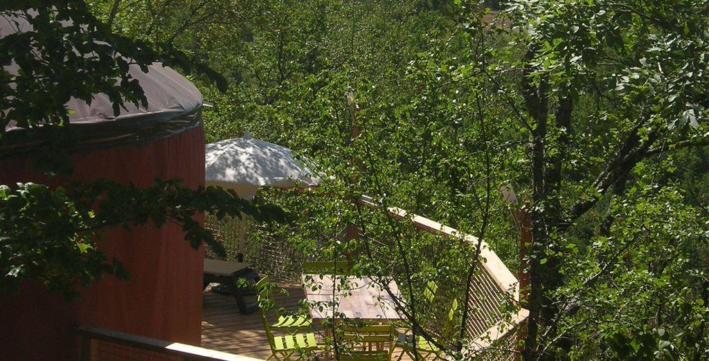 Au contact de la nature depuis votre terrasse