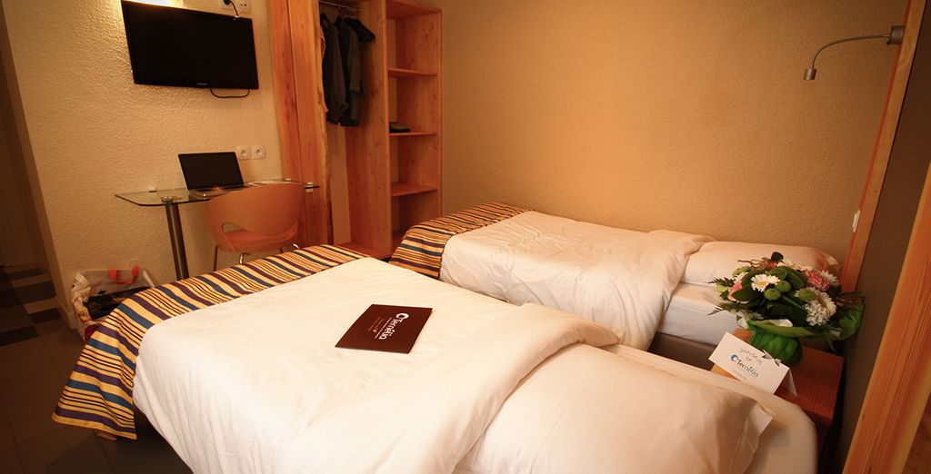 Posez vos valises dans le village vacances Le Pré du Lac où votre chambre sera le parfait pied-à-terre