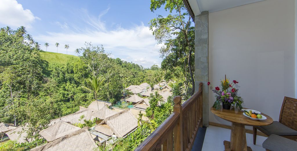 Et son balcon avec vue sur le domaine !