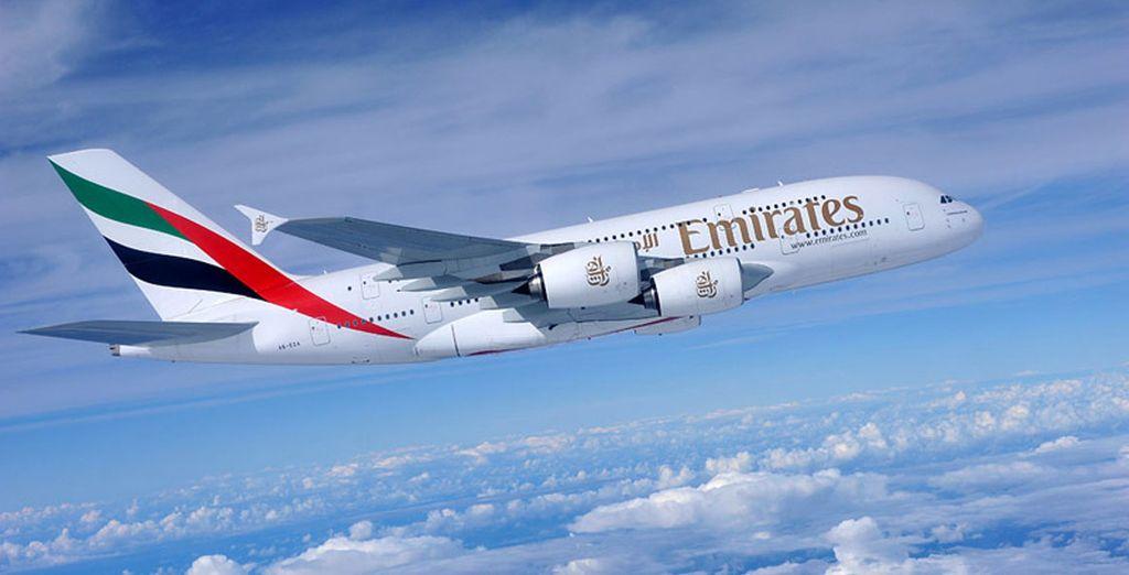 Vous voyagerez avec la compagnie Emirates pour un vol d'exception