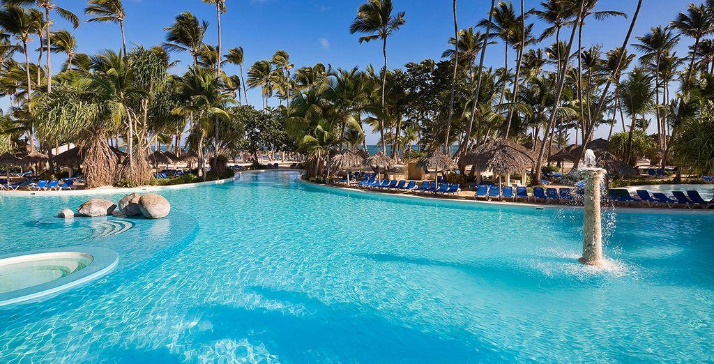 A vous... les bains de soleil au bord de la piscine,