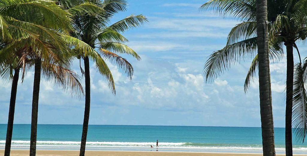 La plage de Khaok Lak, face à l'hôtel, vous attend...