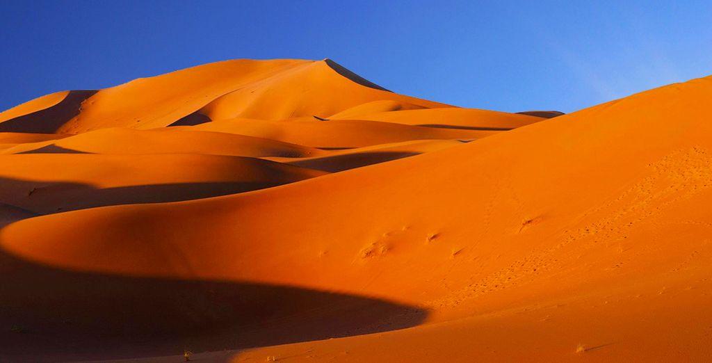 Photographie du désert du Maroc