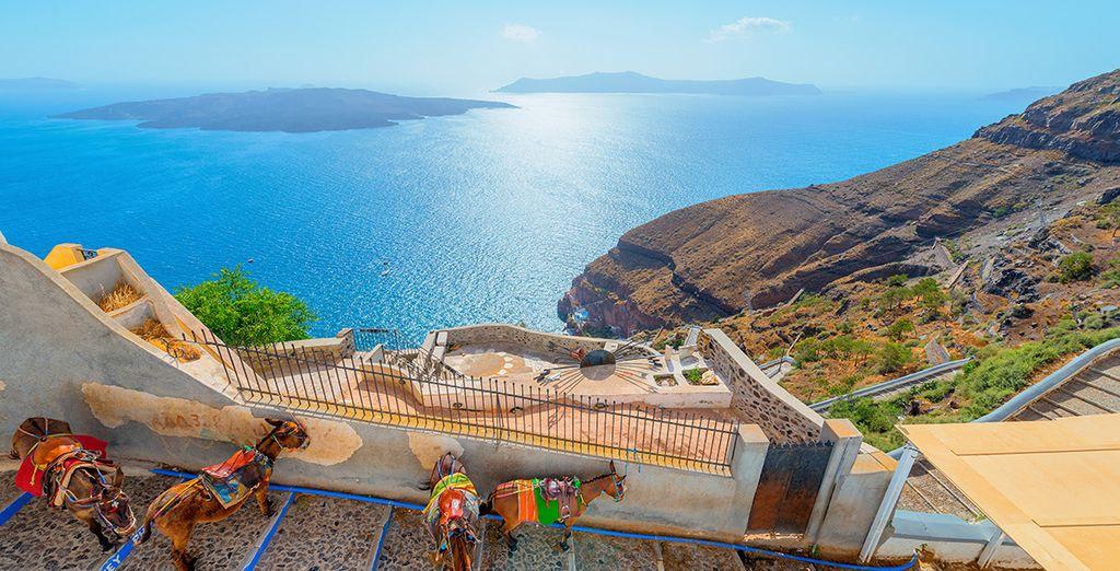 Et de ses vues plongeantes sur la mer Égée