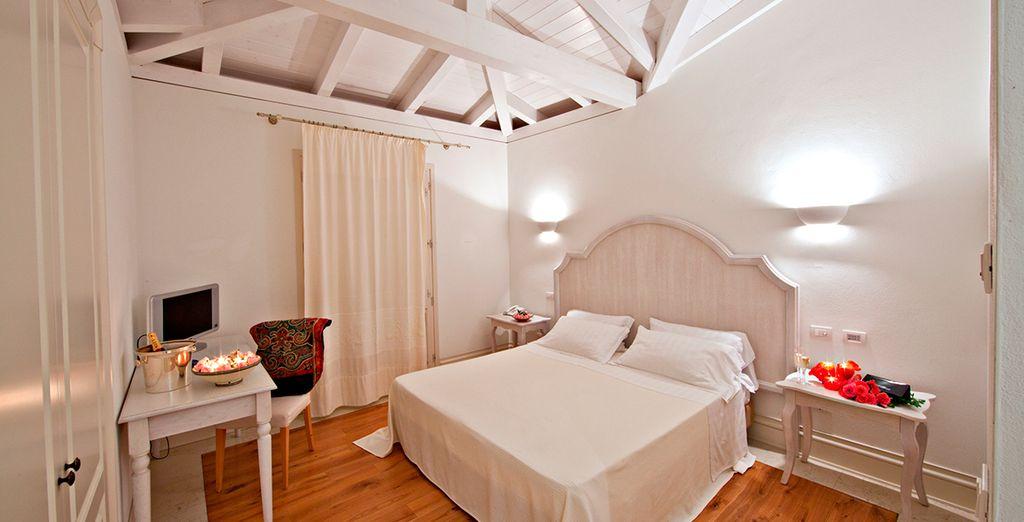Vous séjournerez dans une agréable chambre