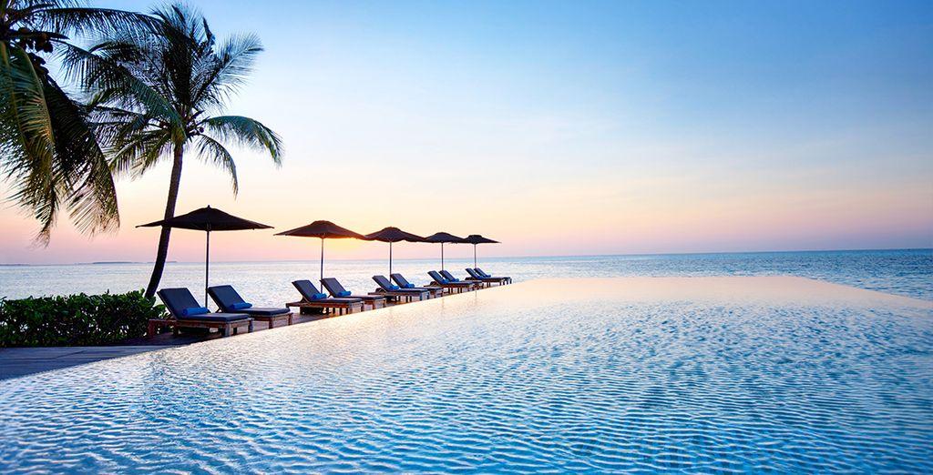 Plage de sable blanc aux Maldives