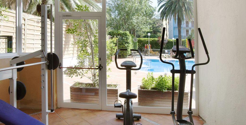 Une salle de fitness, pour garder la forme