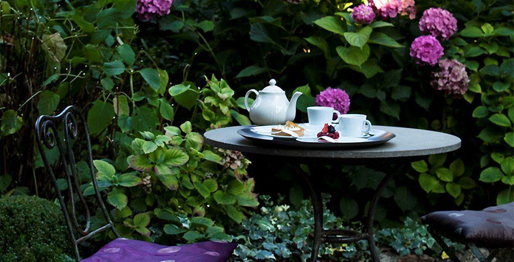 Vos pourrez également faire une pause dans le jardin fleuri