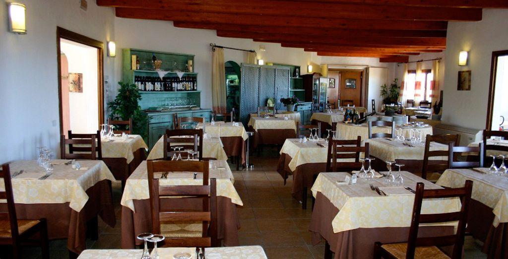 Avant de goûter aux saveurs méditerranéennes du restaurant