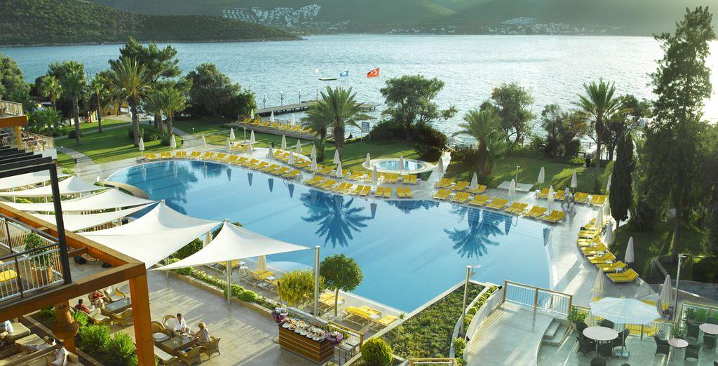 Soleil, plage et ambiance animée... - Hôtel Isil Club Bodrum 5* Bodrum