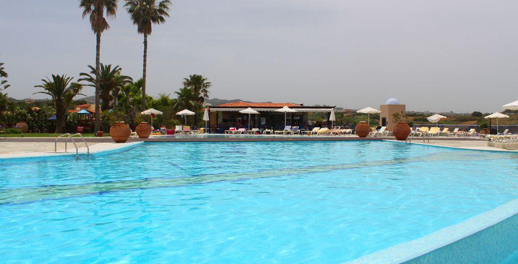 Location de vacances en Crète haut de gamme avec piscine et espace détente