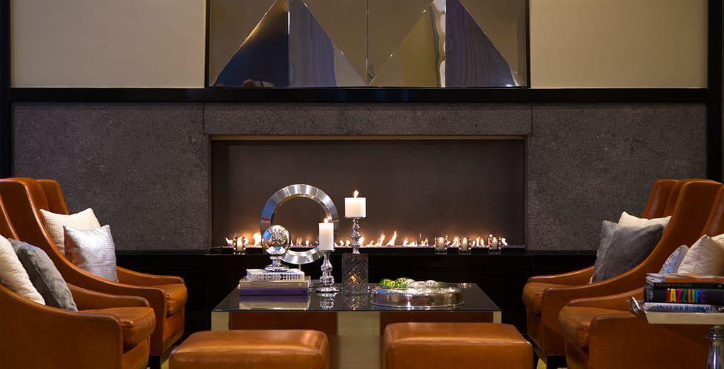 Au restaurant, ou dans le lobby-lounge cosy et chaleureux...