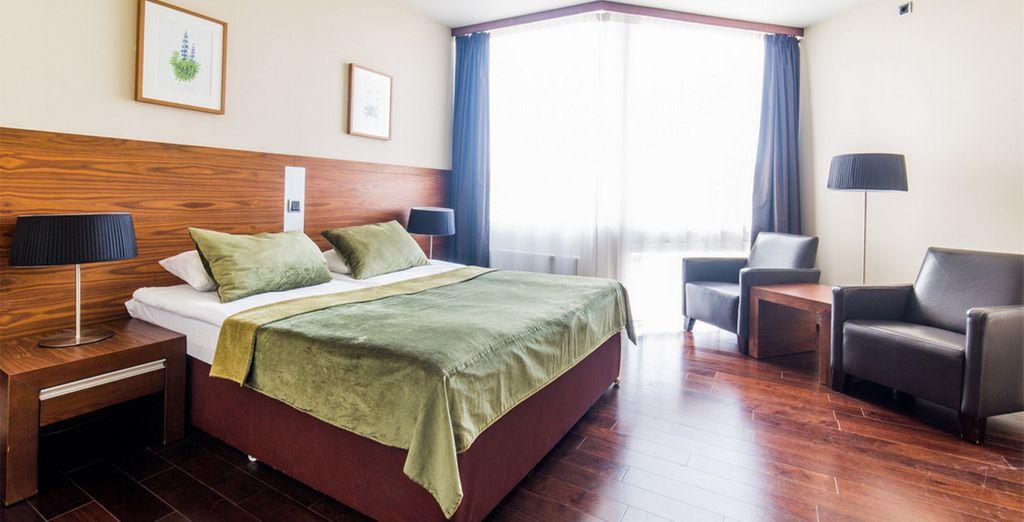 Les spacieuses chambres Supérieures vous offriront tout le confort nécessaire à votre escapade.