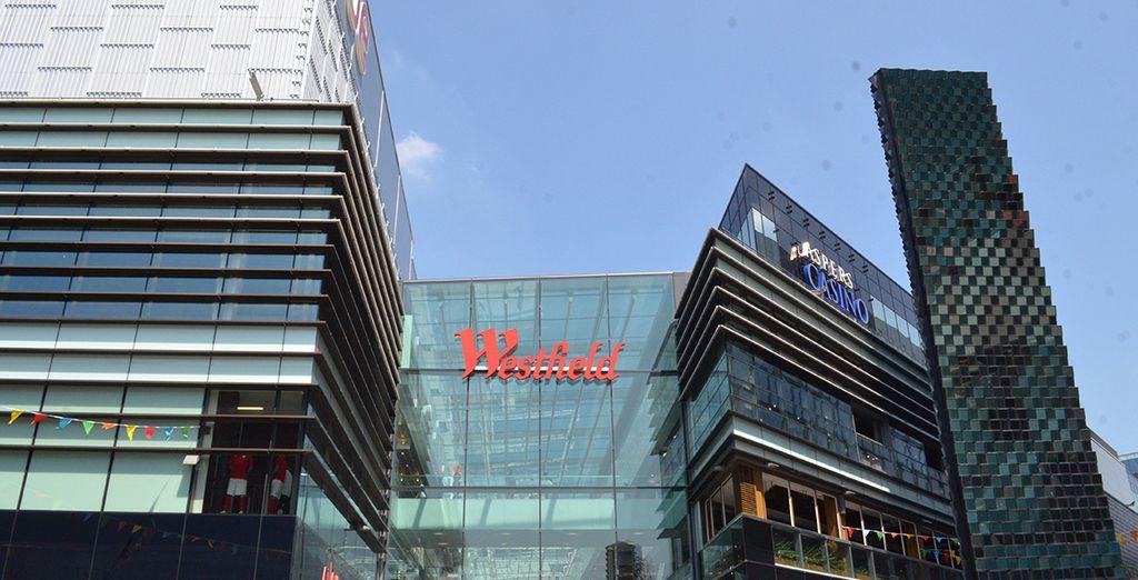 Profitez de votre bon de reduction VIP de 20% maximum au centre commercial Westfield pour faire du shopping