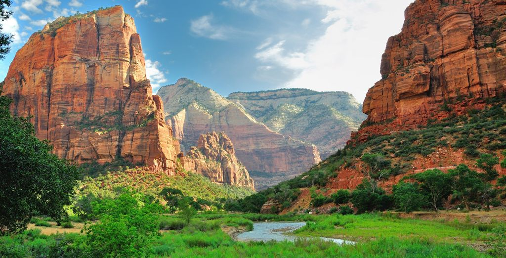 Enfin, vous visiterez de magnifiques parcs nationaux : Zion...
