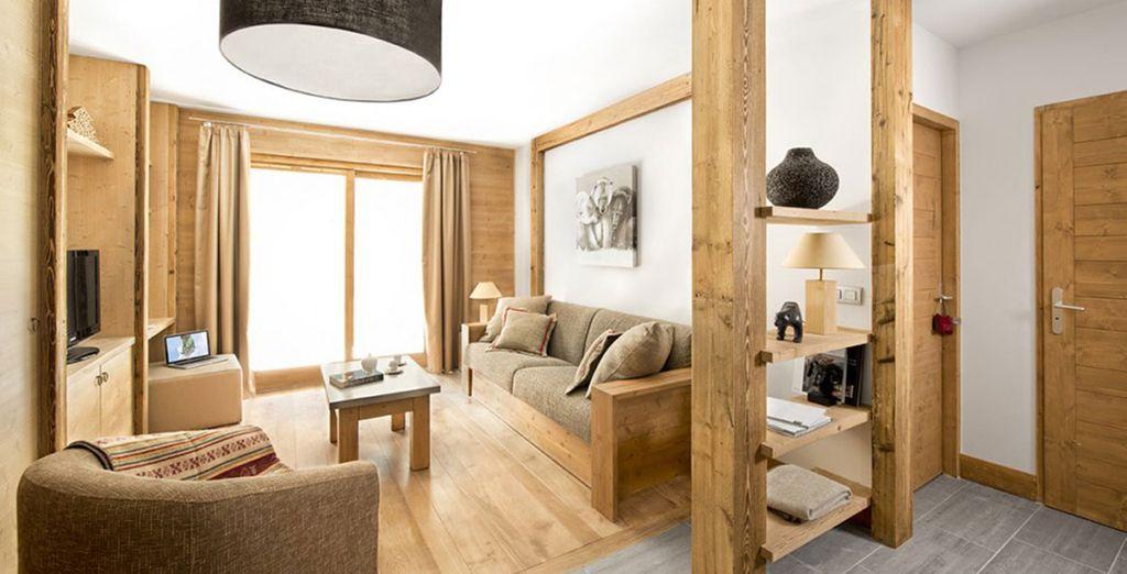 Dans de beaux appartements rénovés...