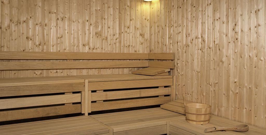 Ou dans le sauna...