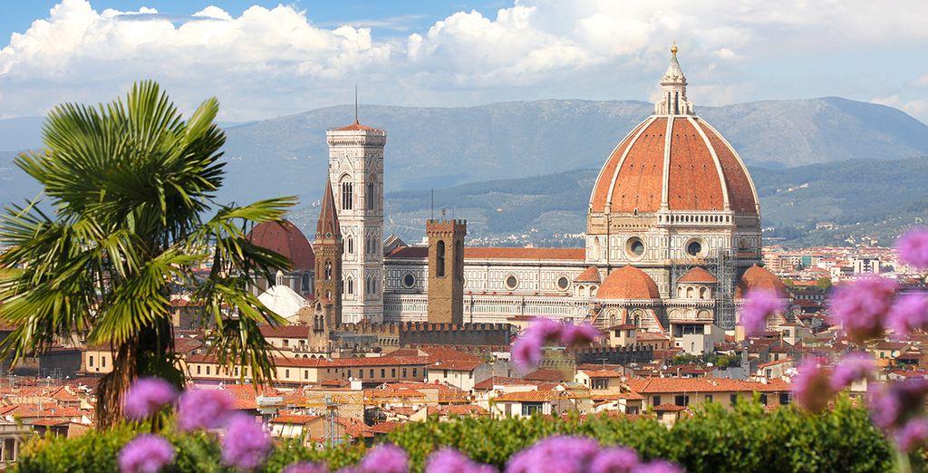 Avec la magique ville de Florence