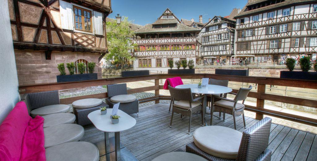 Profitez d'instants de détente dans le cœur historique de Strasbourg...