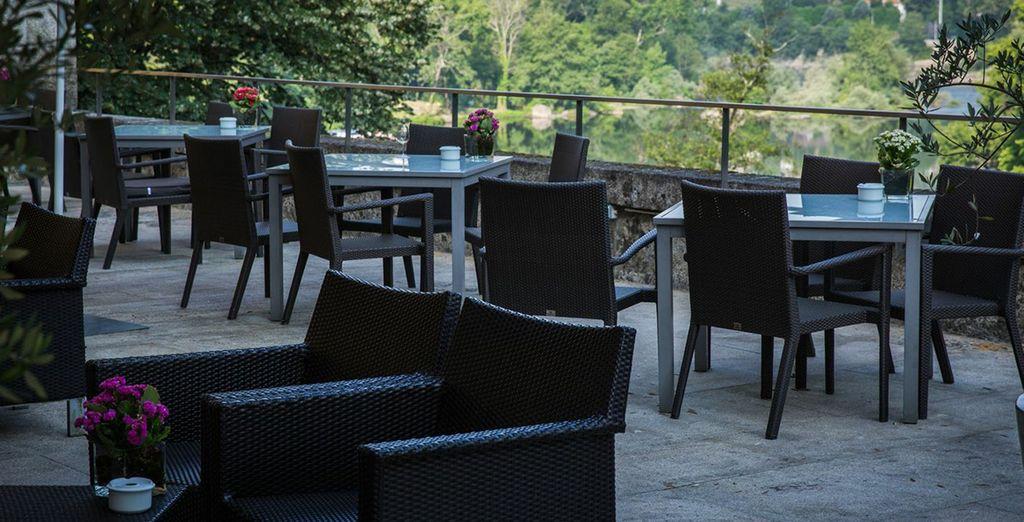 Les repas sur la terrasse seront appréciables...
