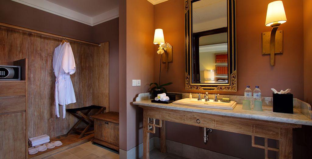 Et leurs salles de bains modernes et agréables...