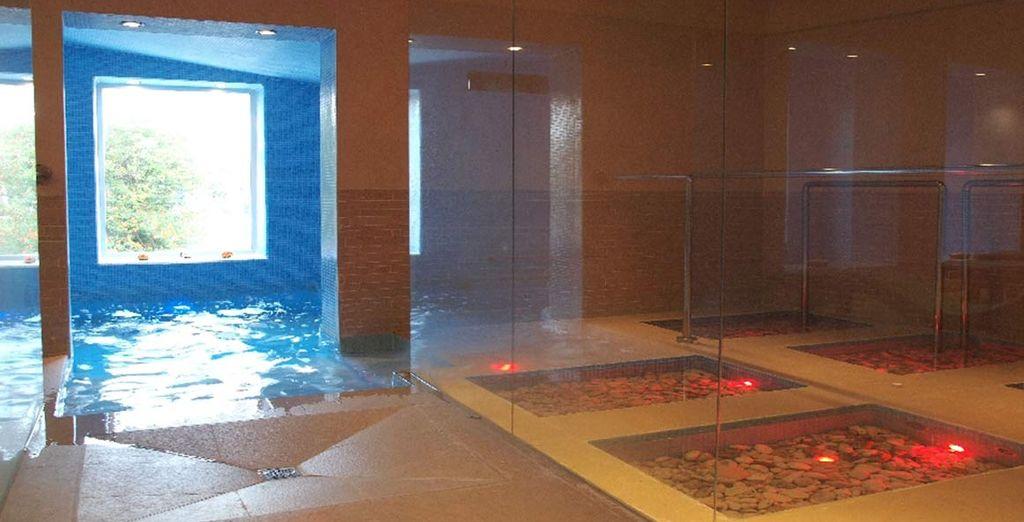 Avec bain turc, sauna finlandais et douche sensorielle