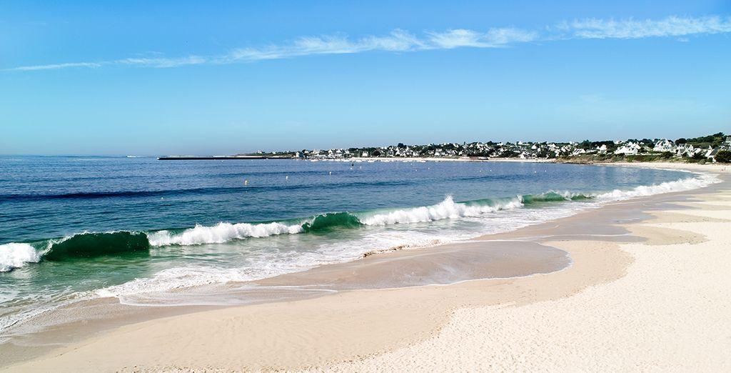 Ou flânez sur la plage, située à seulement 50 mètres de la résidence !