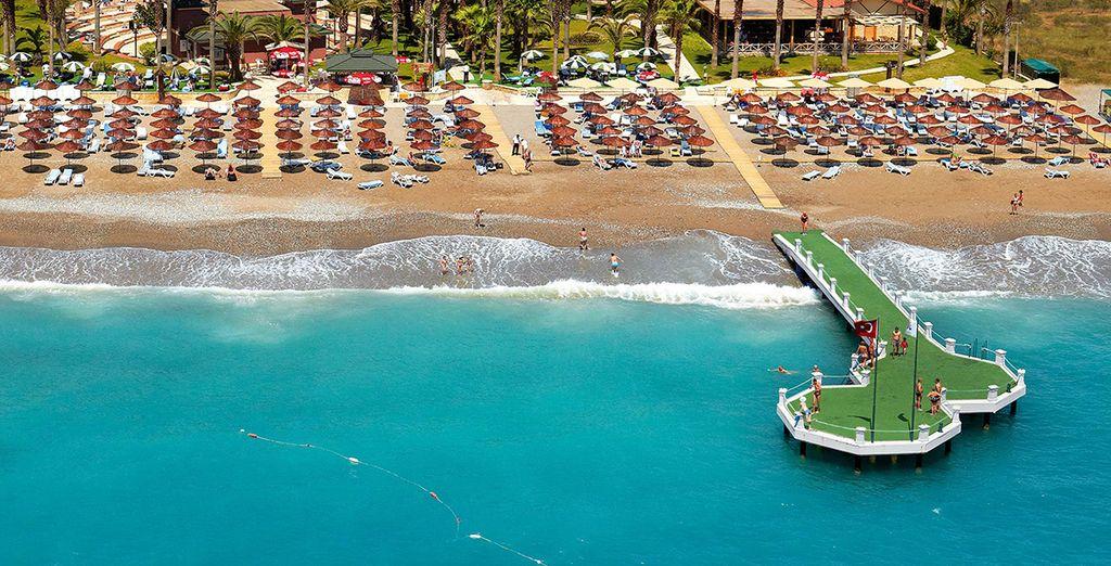 Et en front de mer dans la région d'Antalya